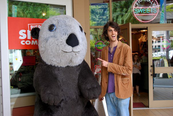 A Giant Stuffed Otter and Harrison Homel