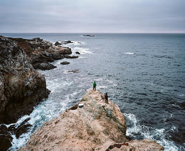 Fishermen on the cliffs of Big Sur, California. Shot on #ektar100. @kodak @richardphotolab @filmphotographic @boxspeed