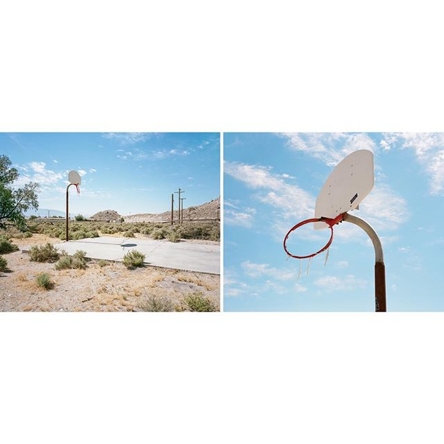 Diptych taken while getting lost in a desert town somewhere in the Mojave. @indiefilmlab @kodak #portra160 #film