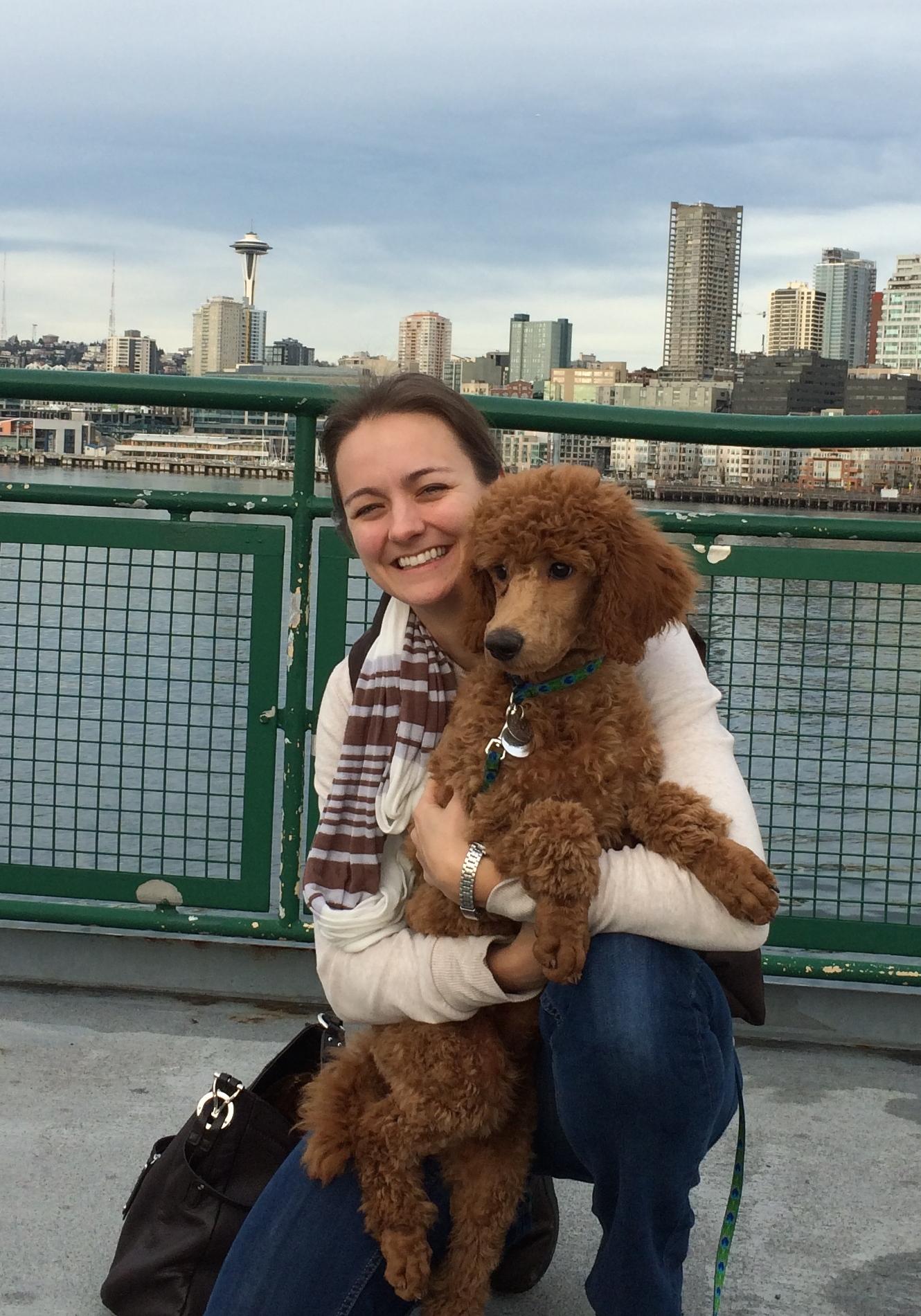 Dr. Rathbone and Sherlock enjoying a Seattle Ferry Ride