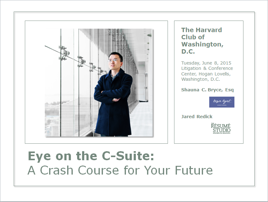 "opening slide for ""eye on the c-suite"" presentation"
