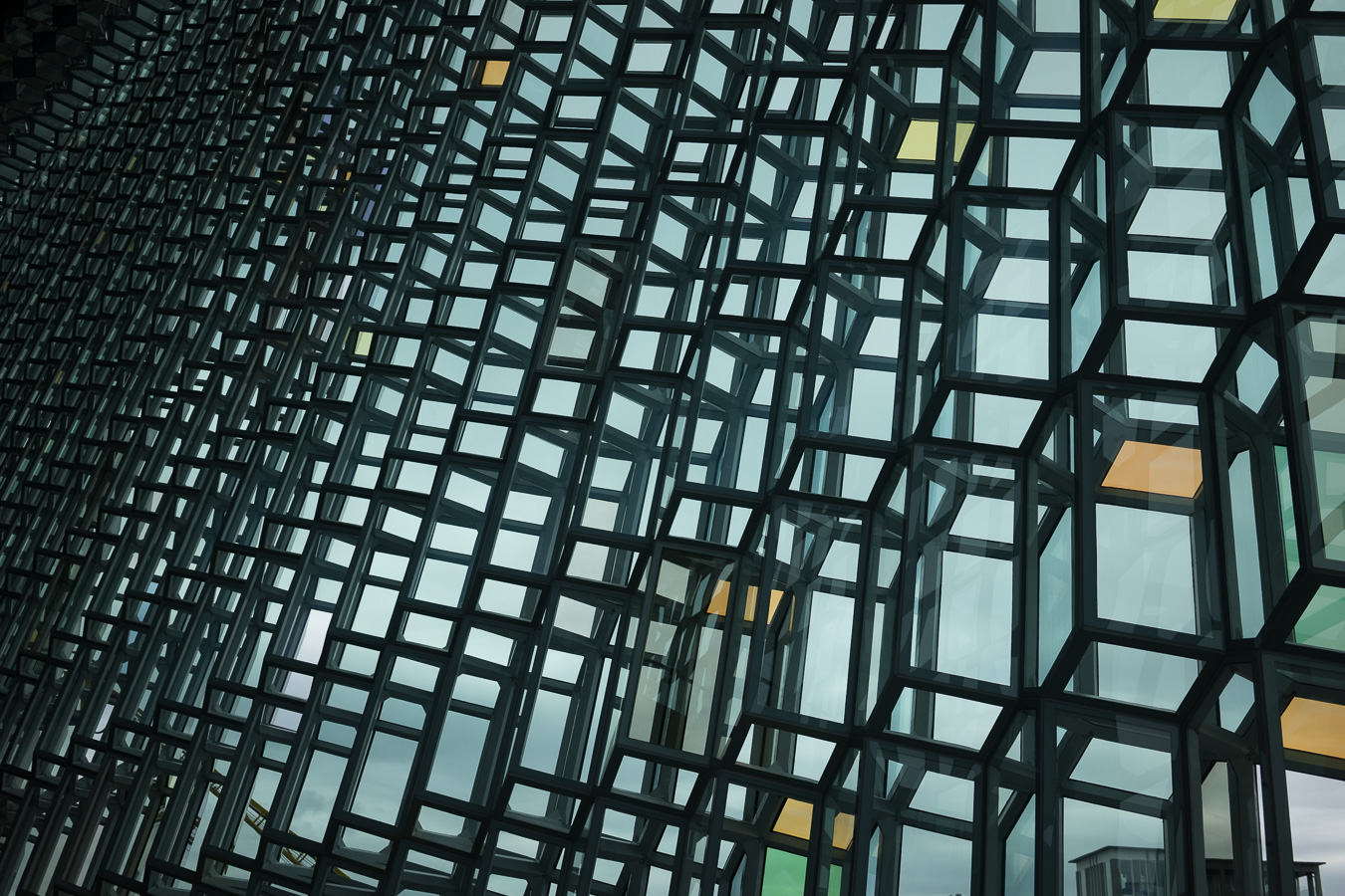 Inside Harpa.  Photo by   Jonnie Hallman  !