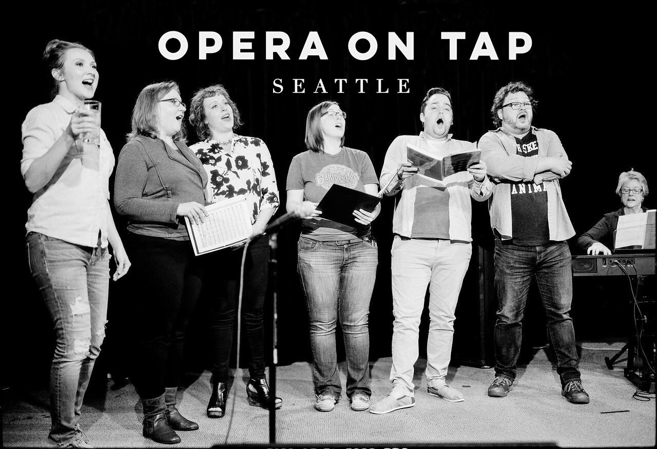 """Monday, November 18th:    CONNECTIONS featuring Kahane's """"Craigslistlieder""""      Opera On Tap Seattle   and   Seattle Art Song Society   present Connections, a fundraiser featuring Kahane's cheeky """"Craigslistlieder"""" plus classics from the art song cannon. Come out to support these two thriving musical organizations in the Seattle scene.  Seattle Art Song Society's mission is to empower audiences to create and enjoy expressions of the human experience through the unity of poetry and music. SASS promotes recitals featuring artists from the Puget Sound Region, and recitals that feature world-renowned artists. They encourage the development of new works to be premiered at recitals. All recitals feature works by popular composers alongside new and lesser-known works. Seattle Art Song Society was established in 2015 by General & Artistic Director Brian C. Armbrust.  Opera on Tap Seattle is a non-profit organization whose mission is to break down the stereo-type that opera is a stuffy or elitist art form by bringing it to bars. Local singers let their hair down and bring you into what feels like an after hours back stage party, singing some of opera's best known and little known pieces in a friendly, relaxed atmosphere.  21+ Tickets available at   https://ootcraigslist.bpt.me    6 PM - Doors 7:30 PM - Show"""