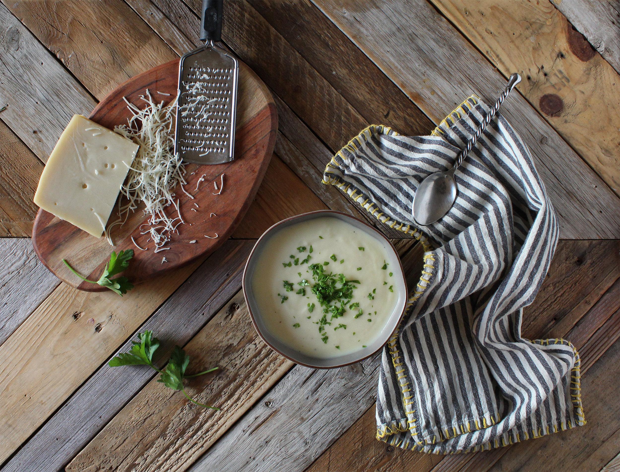 Creamy Winter Parsnip Soup by Sweet Laurel