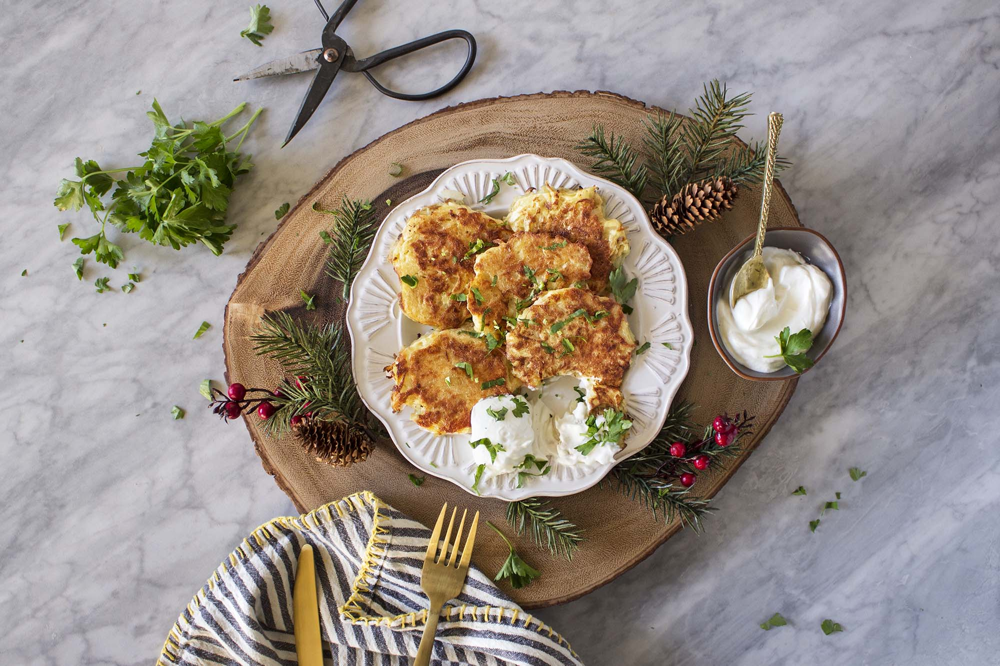 Holiday Potato Latkes by the Everyday Mess