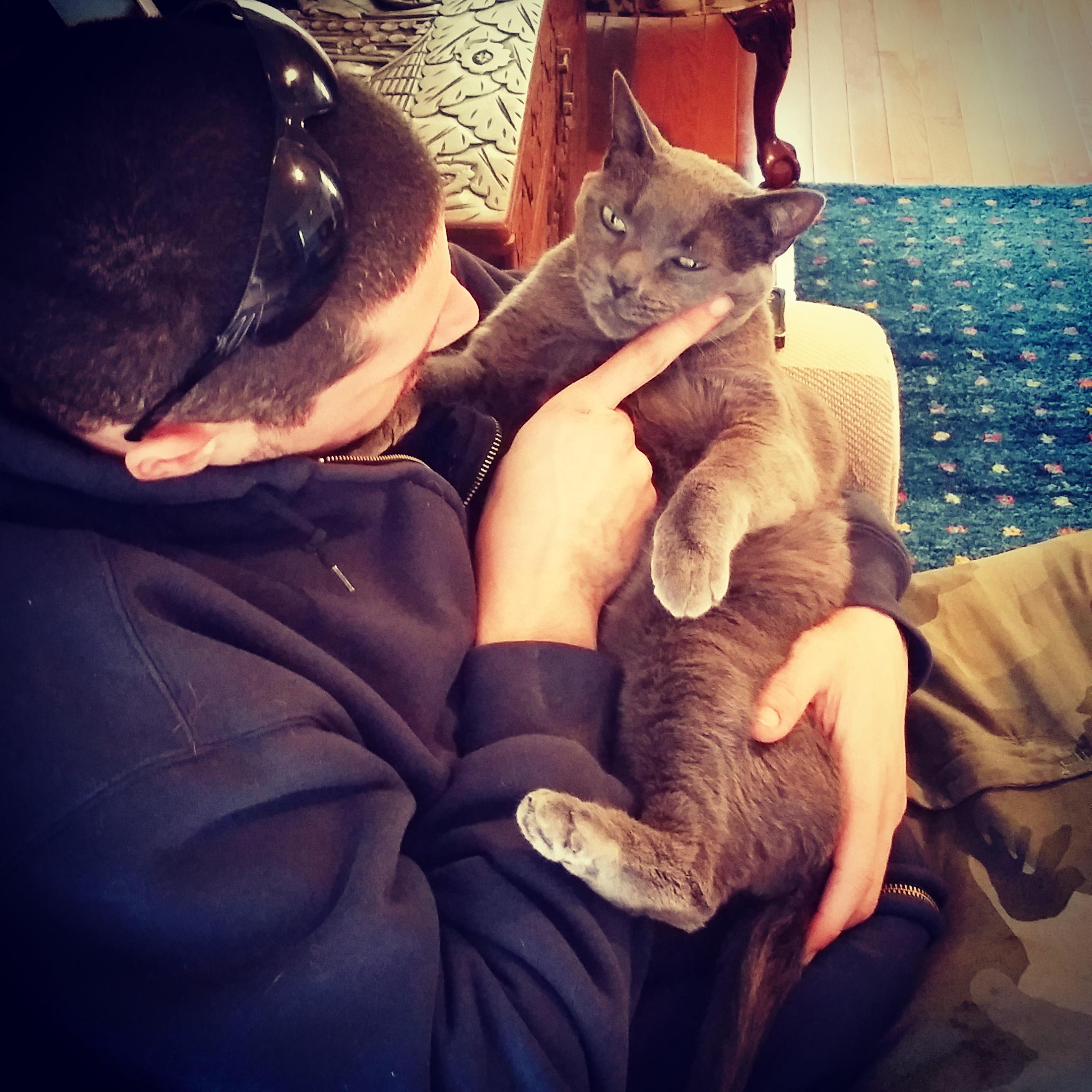 Tony & customer, Smokey