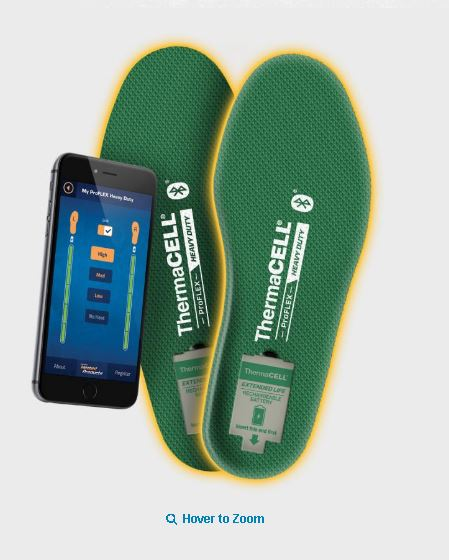 Thermacell rechargable foot warming insoles.