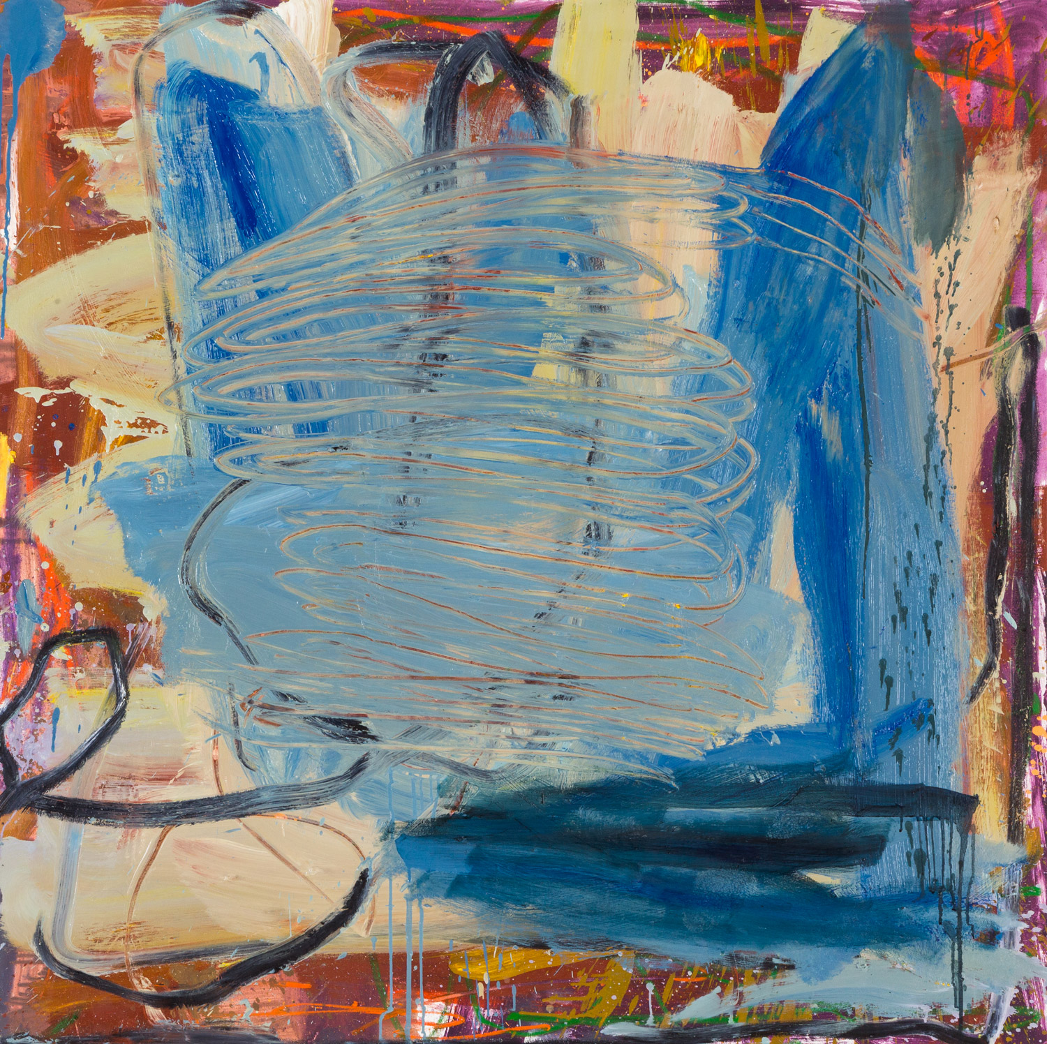 Skinny Dip  , oil on canvas, 48x48 in. ©Denise Gale 2014