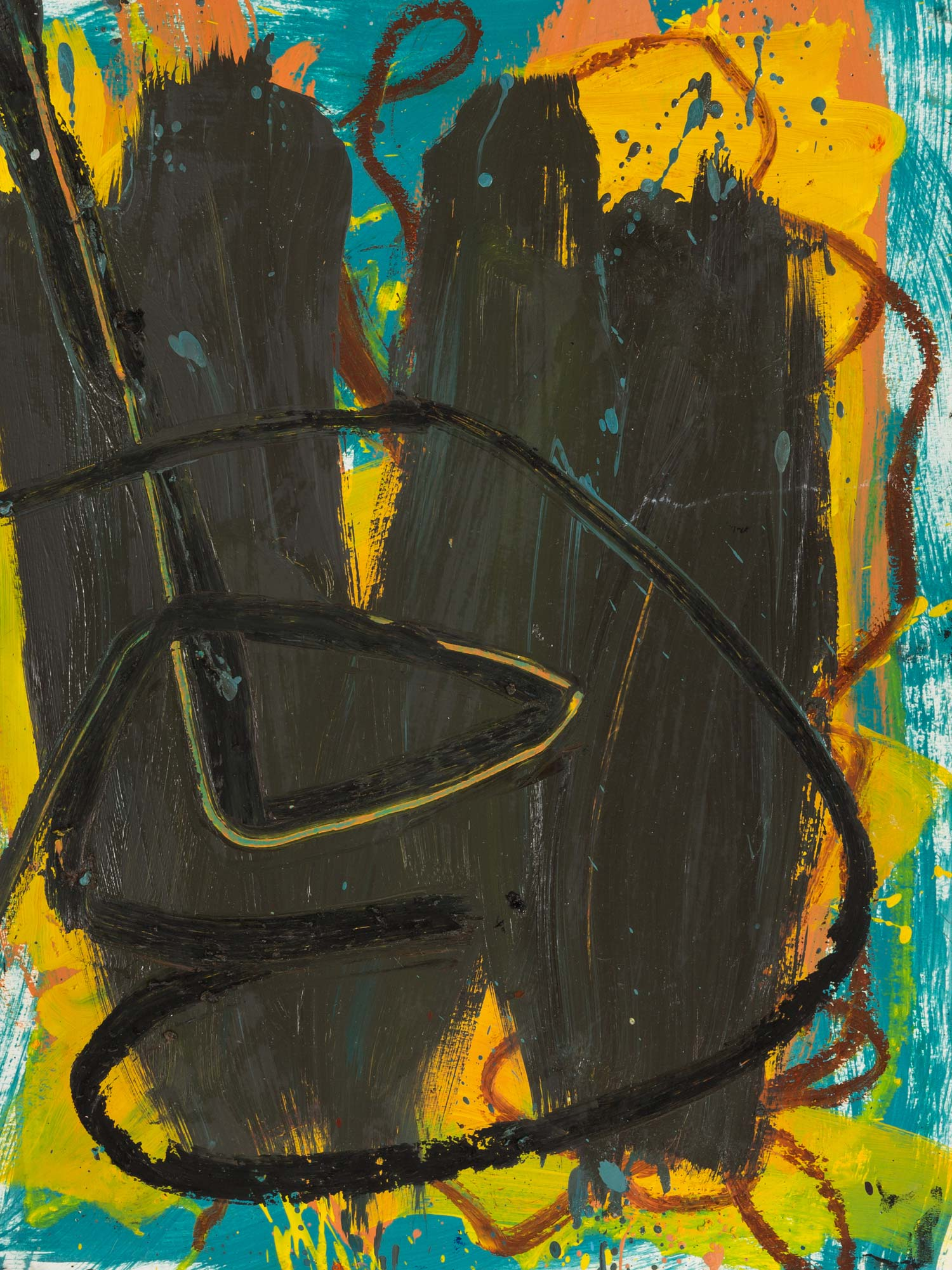 Untitled  , oil on paper, 24 x 18 in. ©Denise Gale 2013