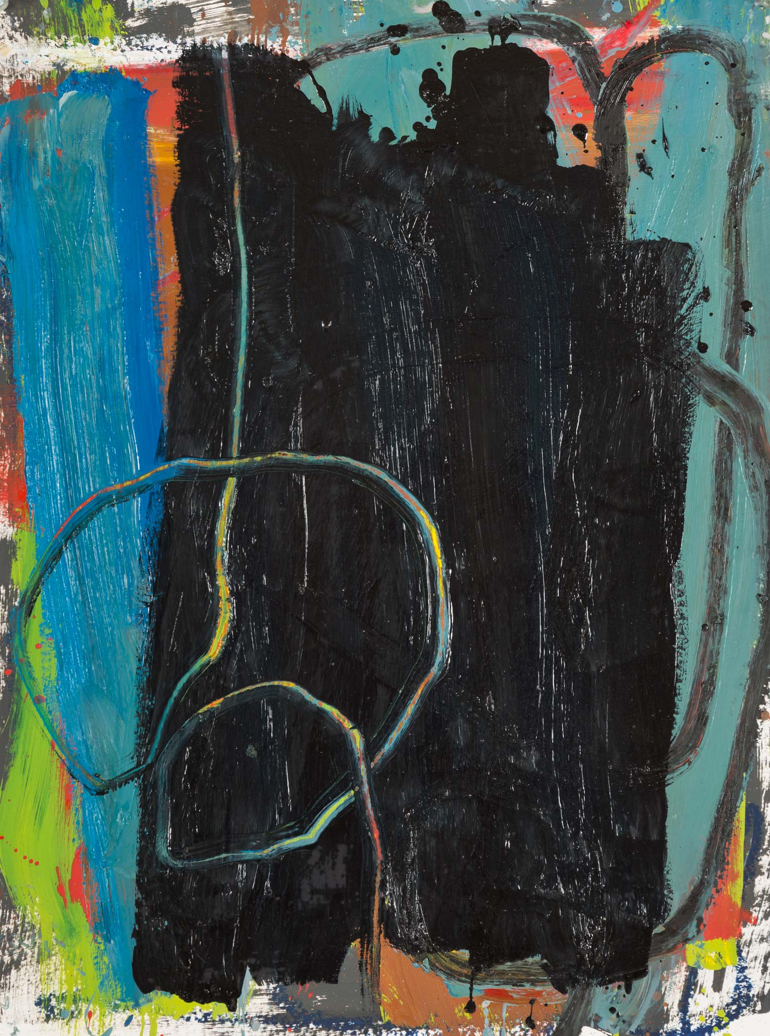 Black Heart  , oil on paper, 24x18 in. ©Denise Gale 2013