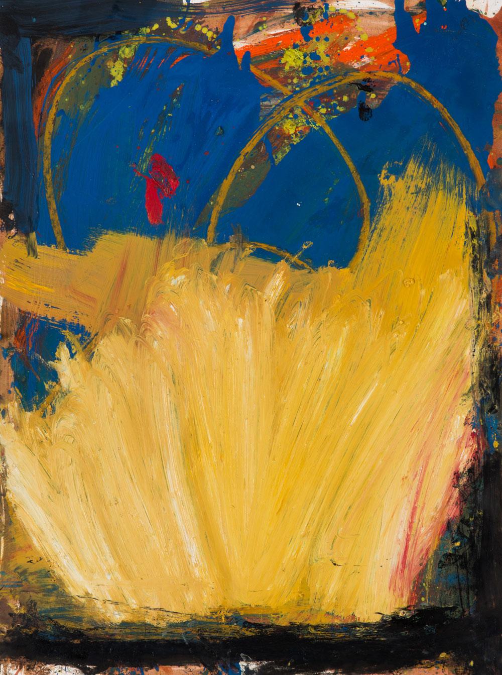 Vesuvius  , oil on paper, 24x18 in. ©Denise Gale 2015