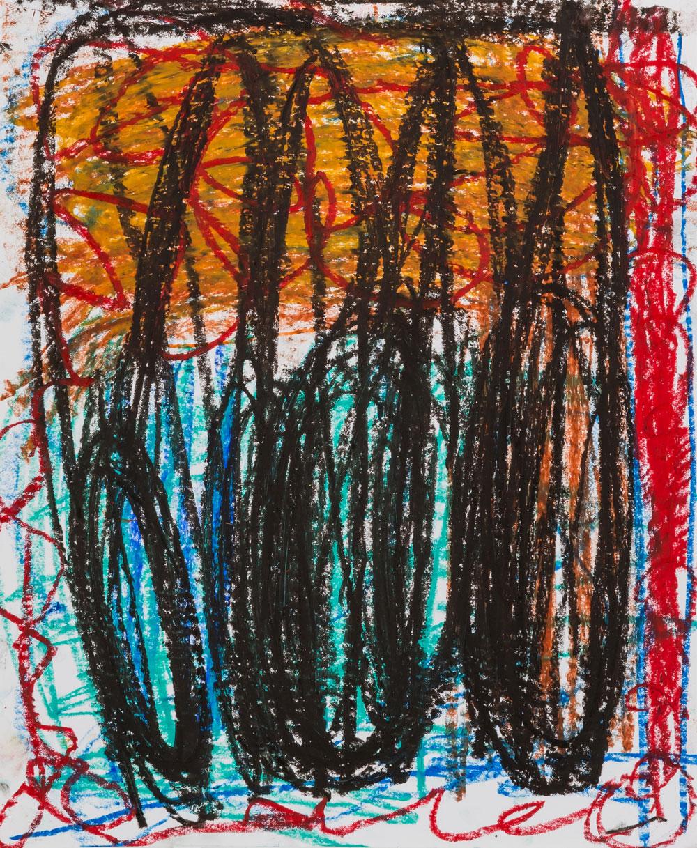 Three Kings II  , oil pastel on paper, 17x14 in. ©Denise Gale 2016