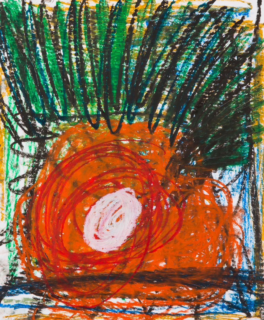 Orange Crush  , oil pastel on paper, 17x14 in. ©Denise Gale 2016