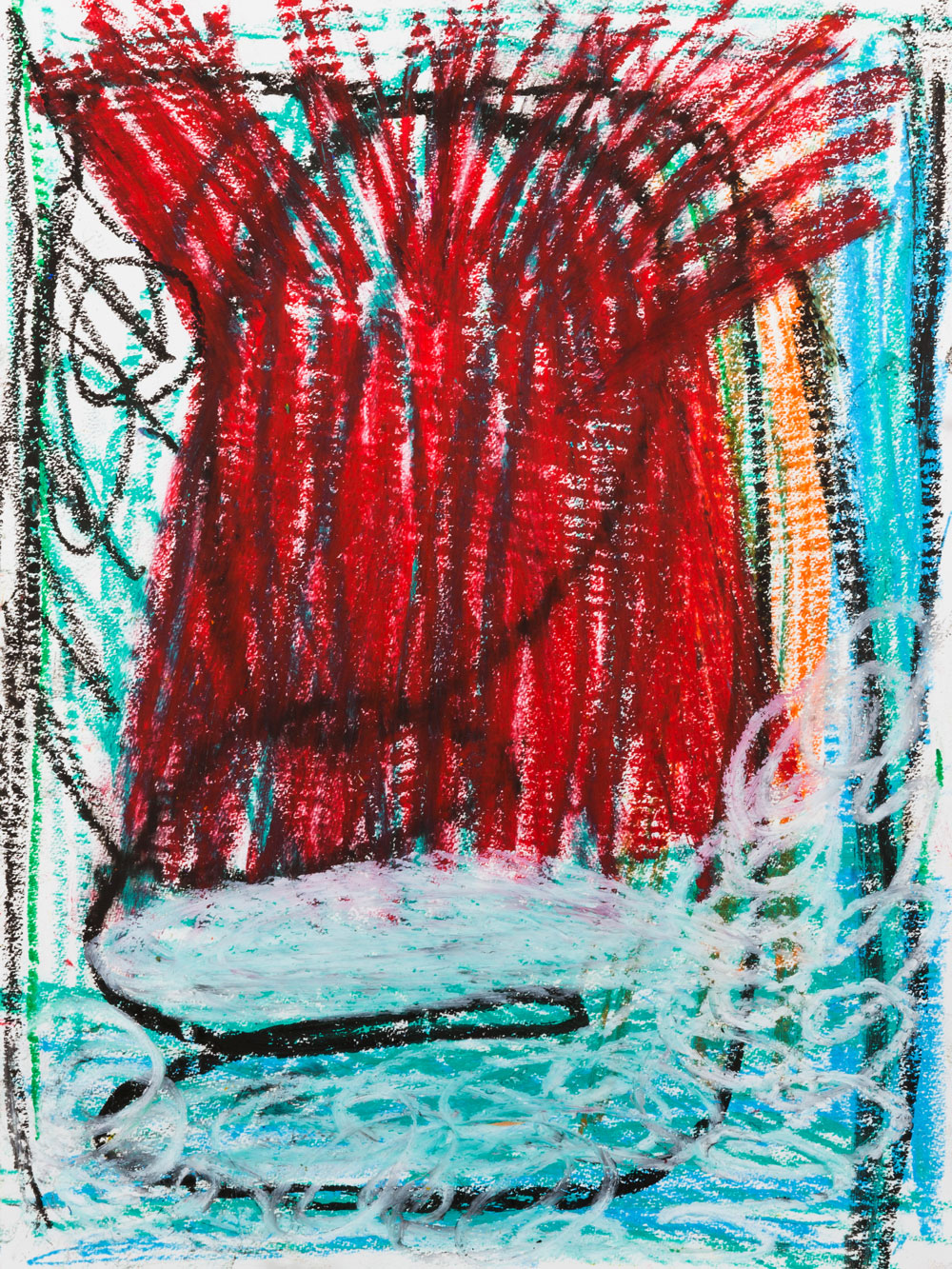 Bonfire  , oil pastel on paper, 17x14 in. ©Denise Gale 2016