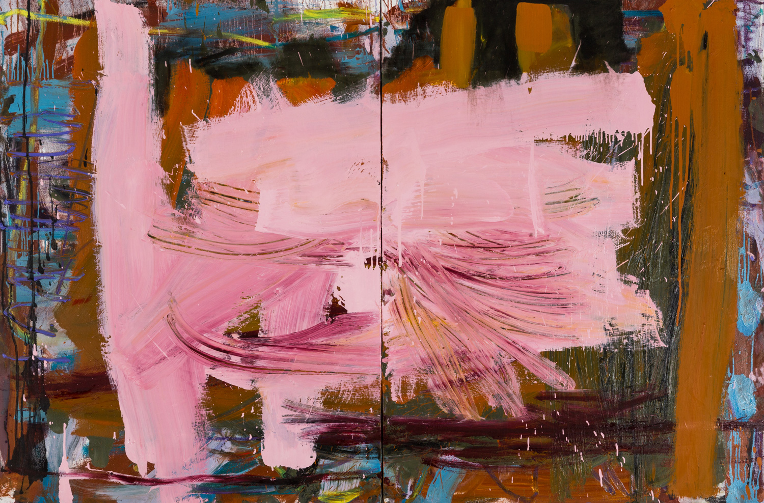 Just Pink  , oil on canvas, 48x72 in. ©Denise Gale 2016
