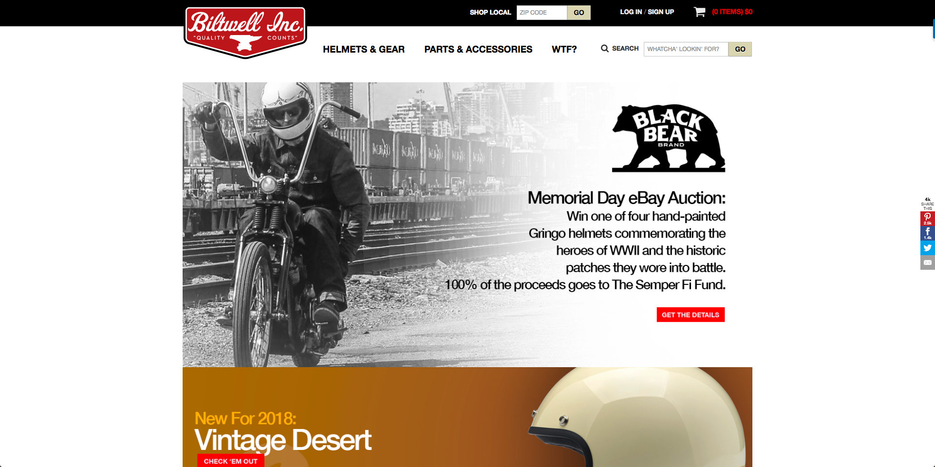 Black Bear Brand featured article with Biltwell