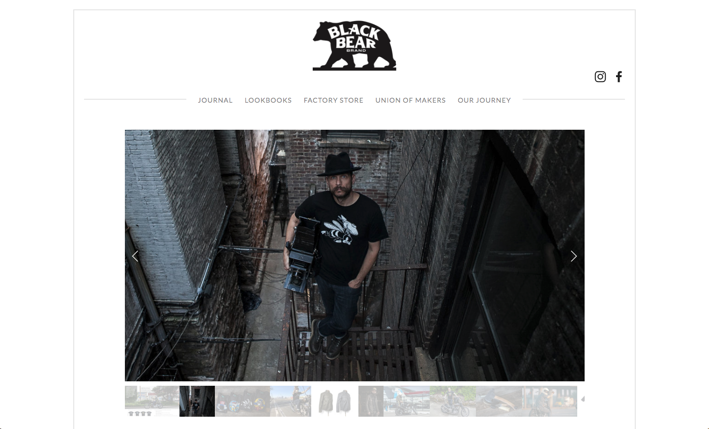 black bear brand website homepage