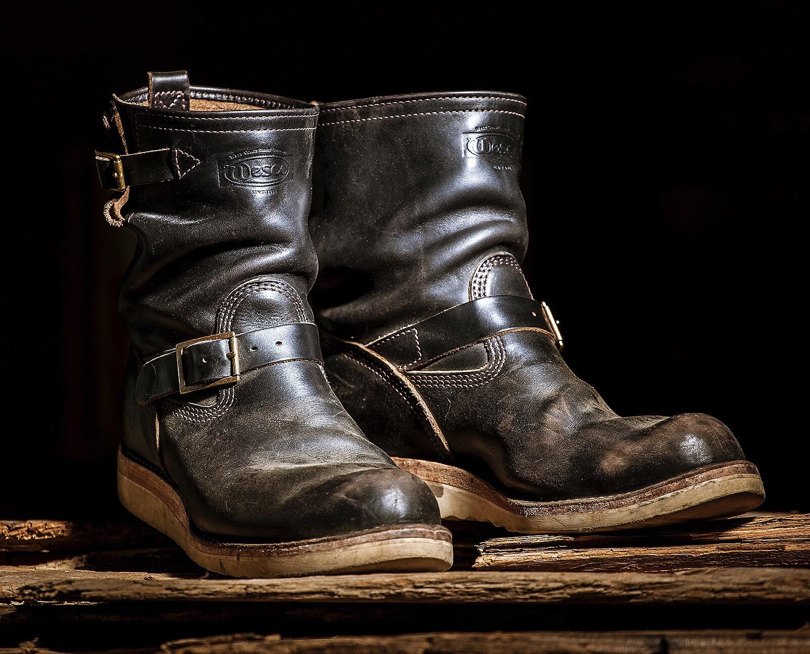 Horween Leather Wesco Boots Black Bear Brand chromexcel boss
