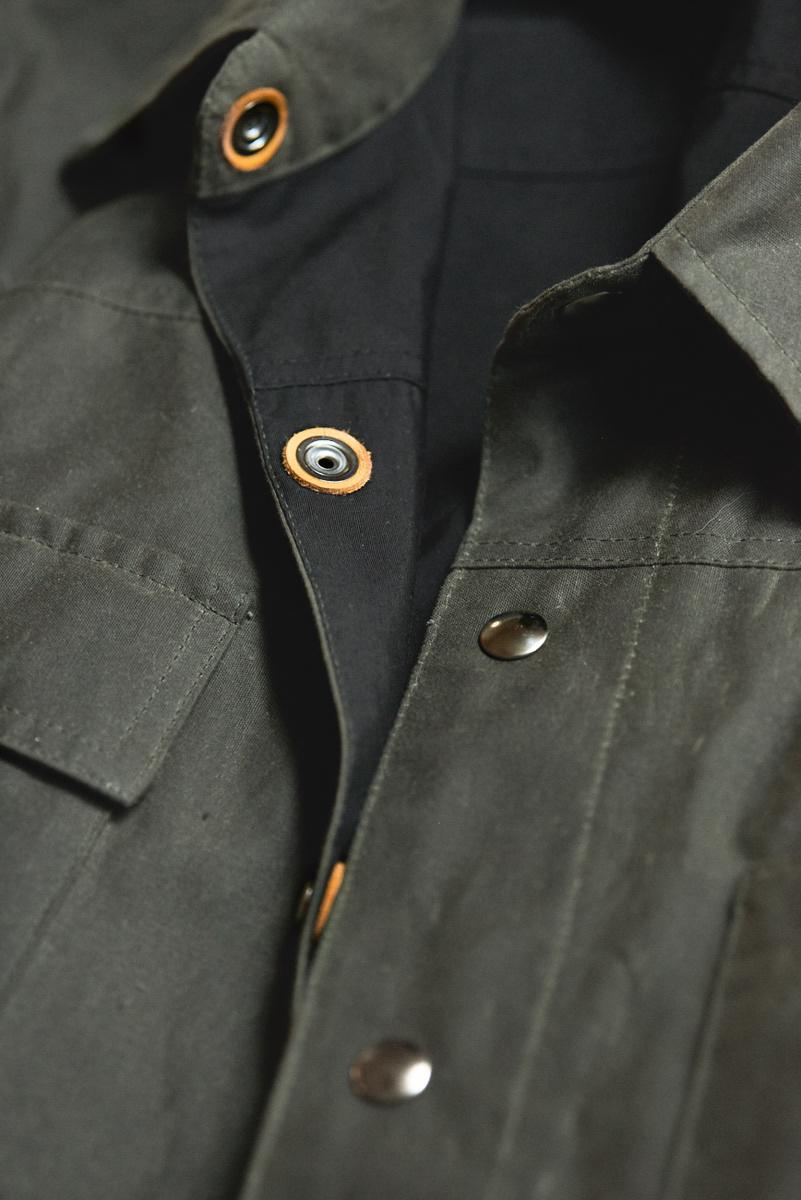 Black Bear Brand Green Wax Canvas Shirt Jacket