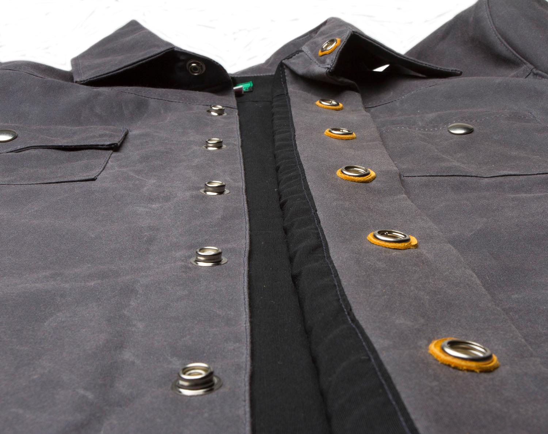 Black Bear Brand Gray Wax Canvas Shirt Jacket