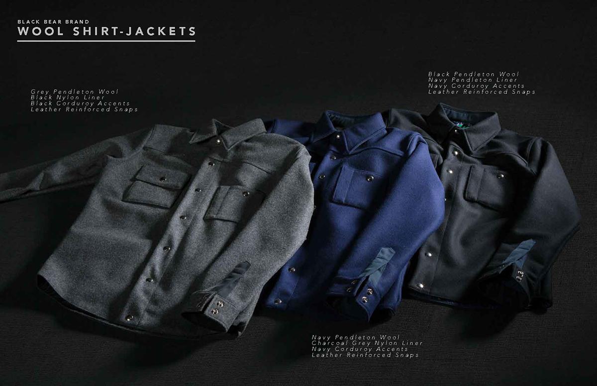 Black Bear Brand Wool Shirt Jacket