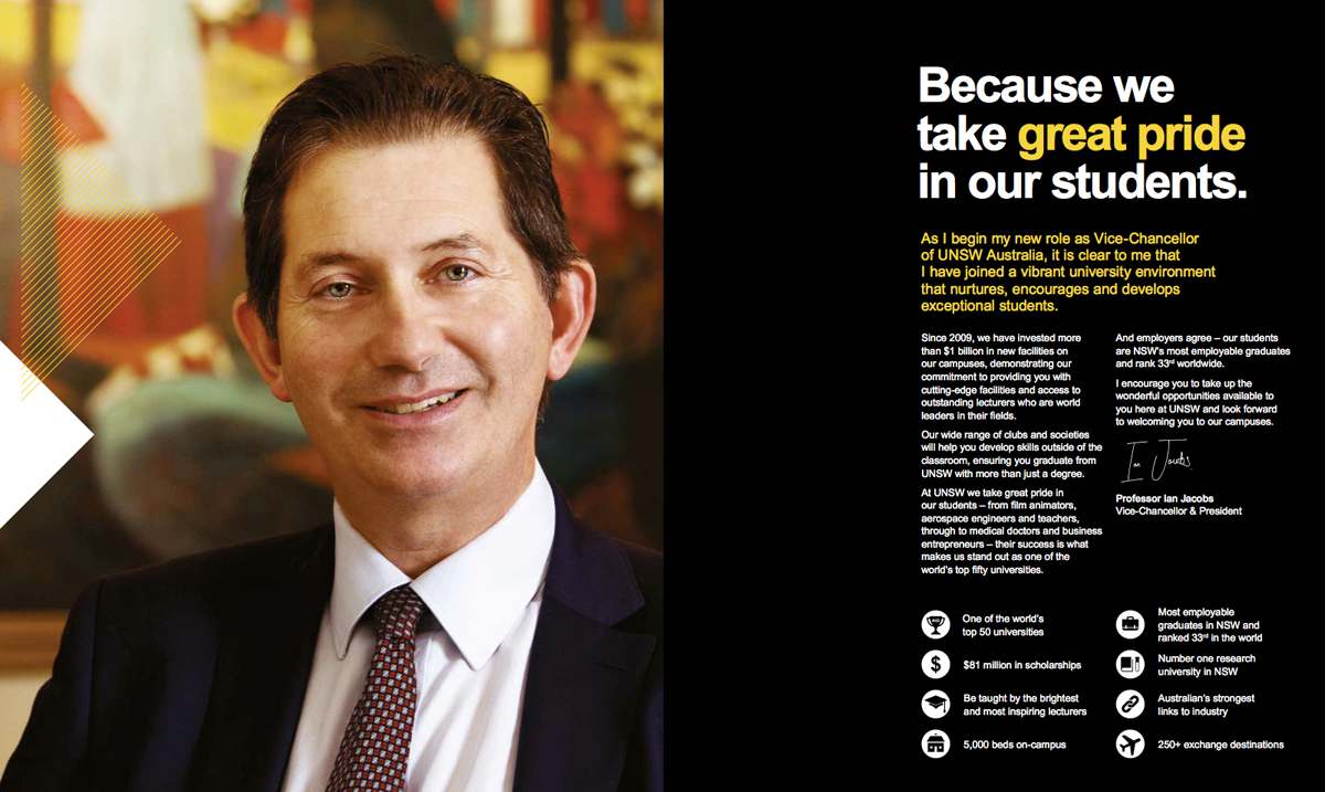 Professor Ian Jacobs UNSW Vice Chancellor