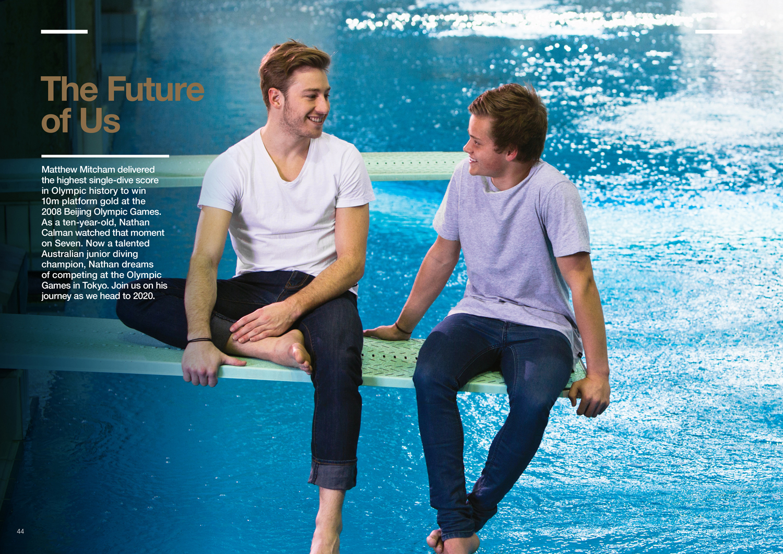 Matthew Mitchum Olympic Diver with Nathan Callan Australian Junior  Diving Champion