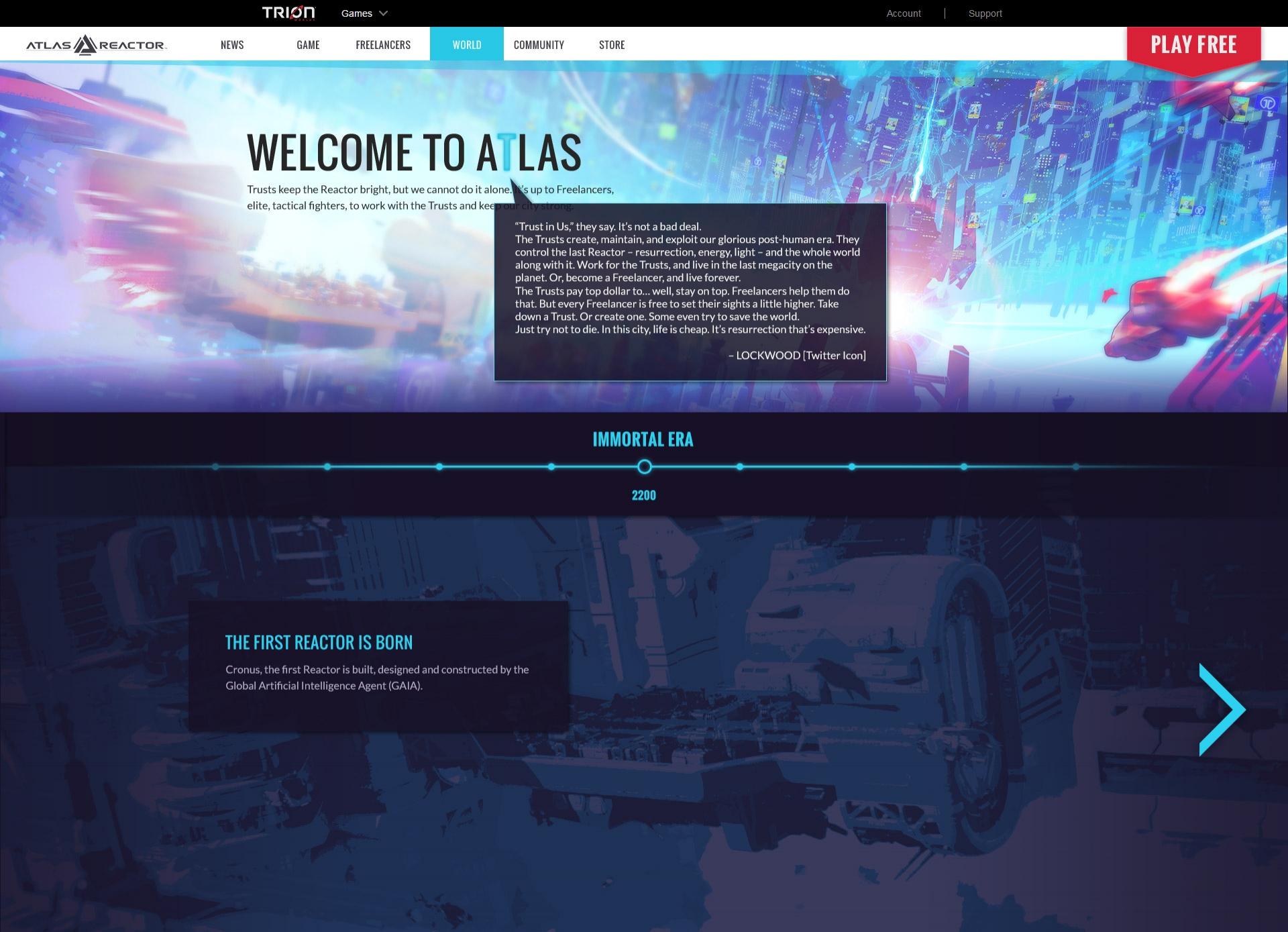 Atlas Reactor - World (detail)