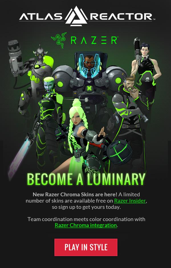 Atlas Reactor + Razer Advertisement