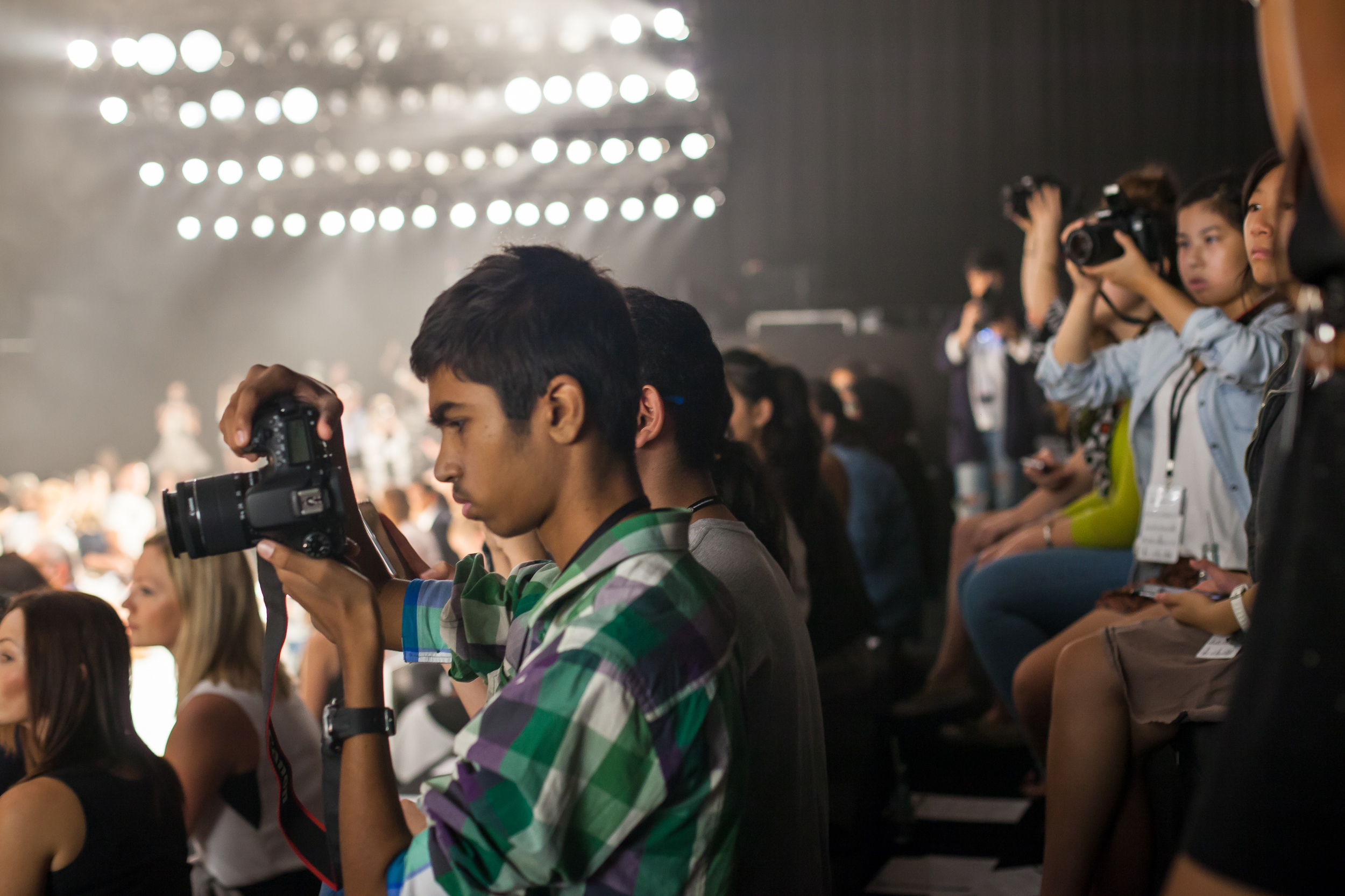 Shooting on the runway. Thanks Cannon for donating the cameras!