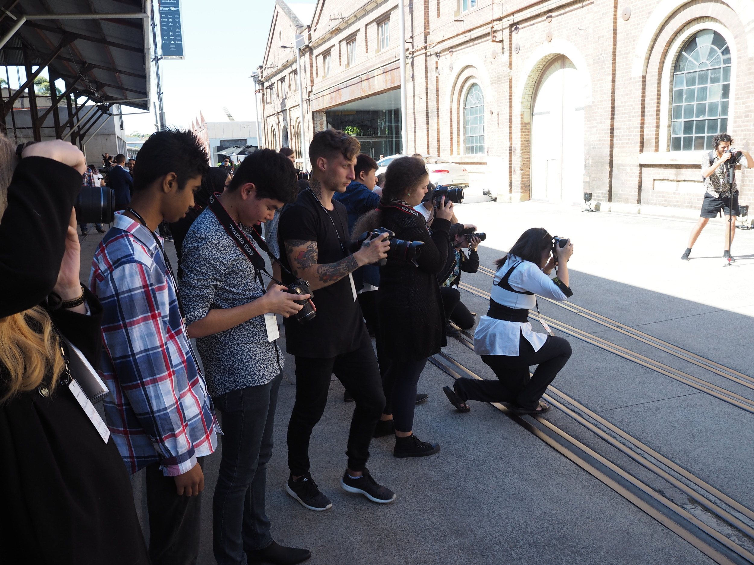 Street style photos with Paul James Bird from Work Agency at  MBFWA .