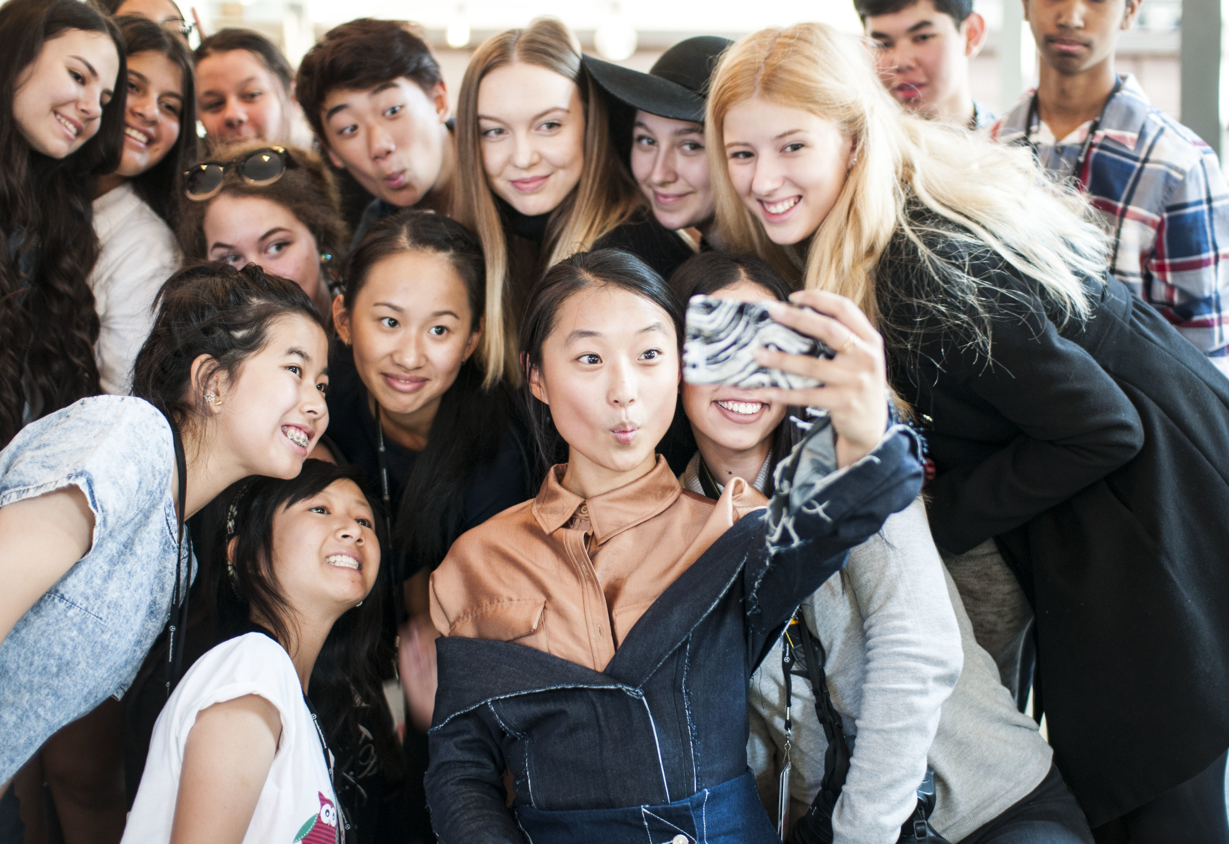 Taking an awesome selfie with Margaret Zhang!