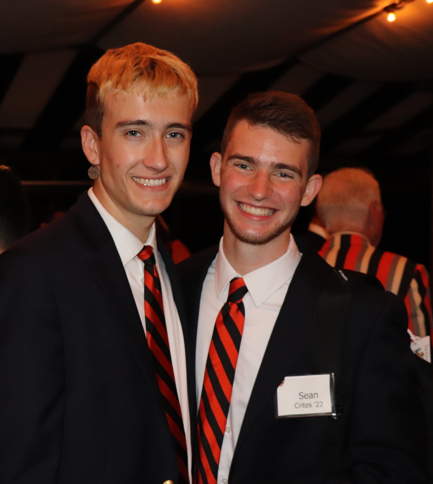 Freshmen David and Sean at the Princeton Club of San Diego's annual dinner