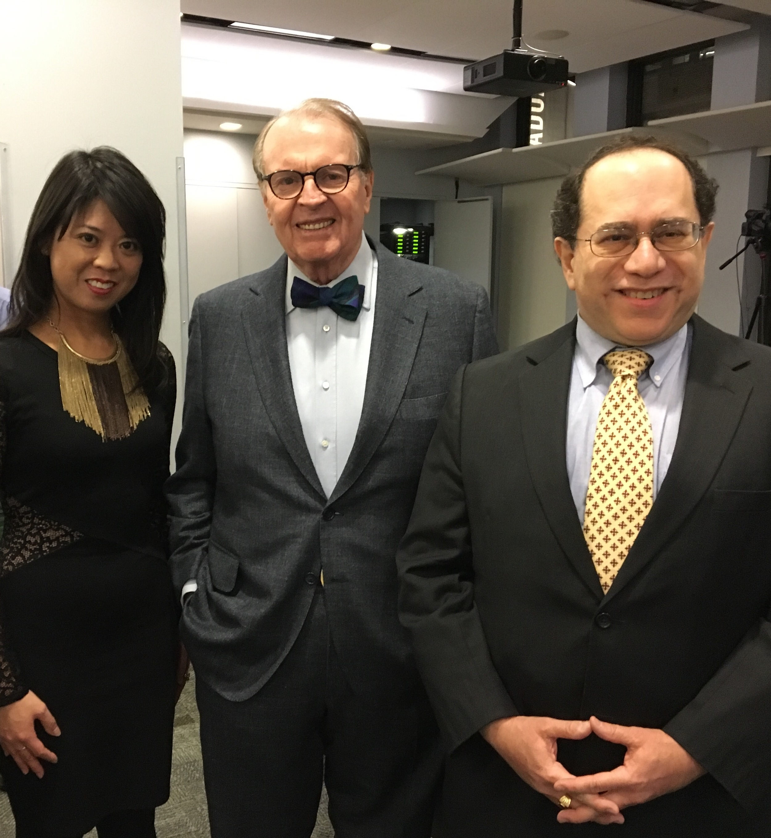 Felicia Lin, Charles Osgood and Victor Scott Rodriguez