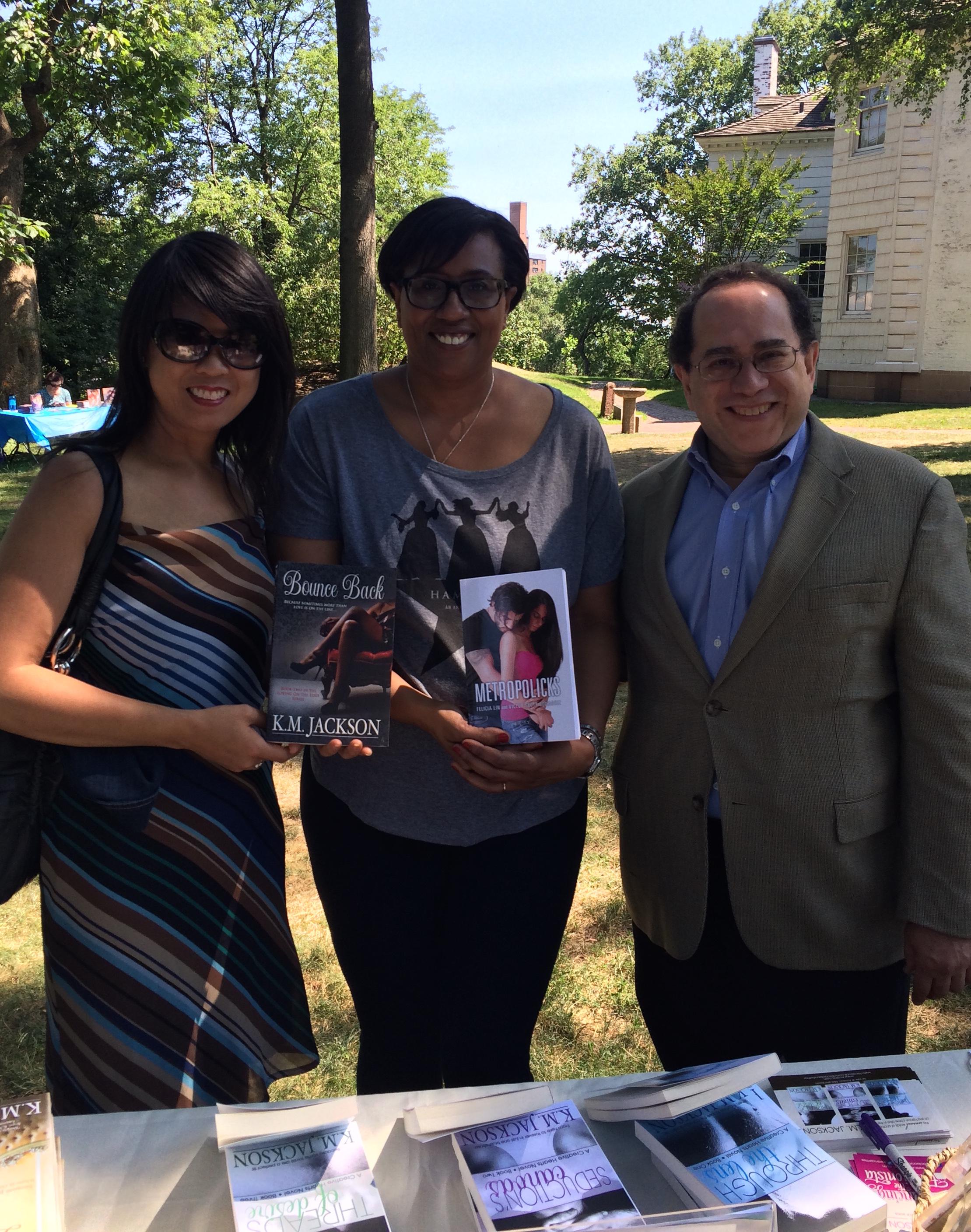 Felicia Lin, K.M. Jackson and Victor Scott Rodriguez