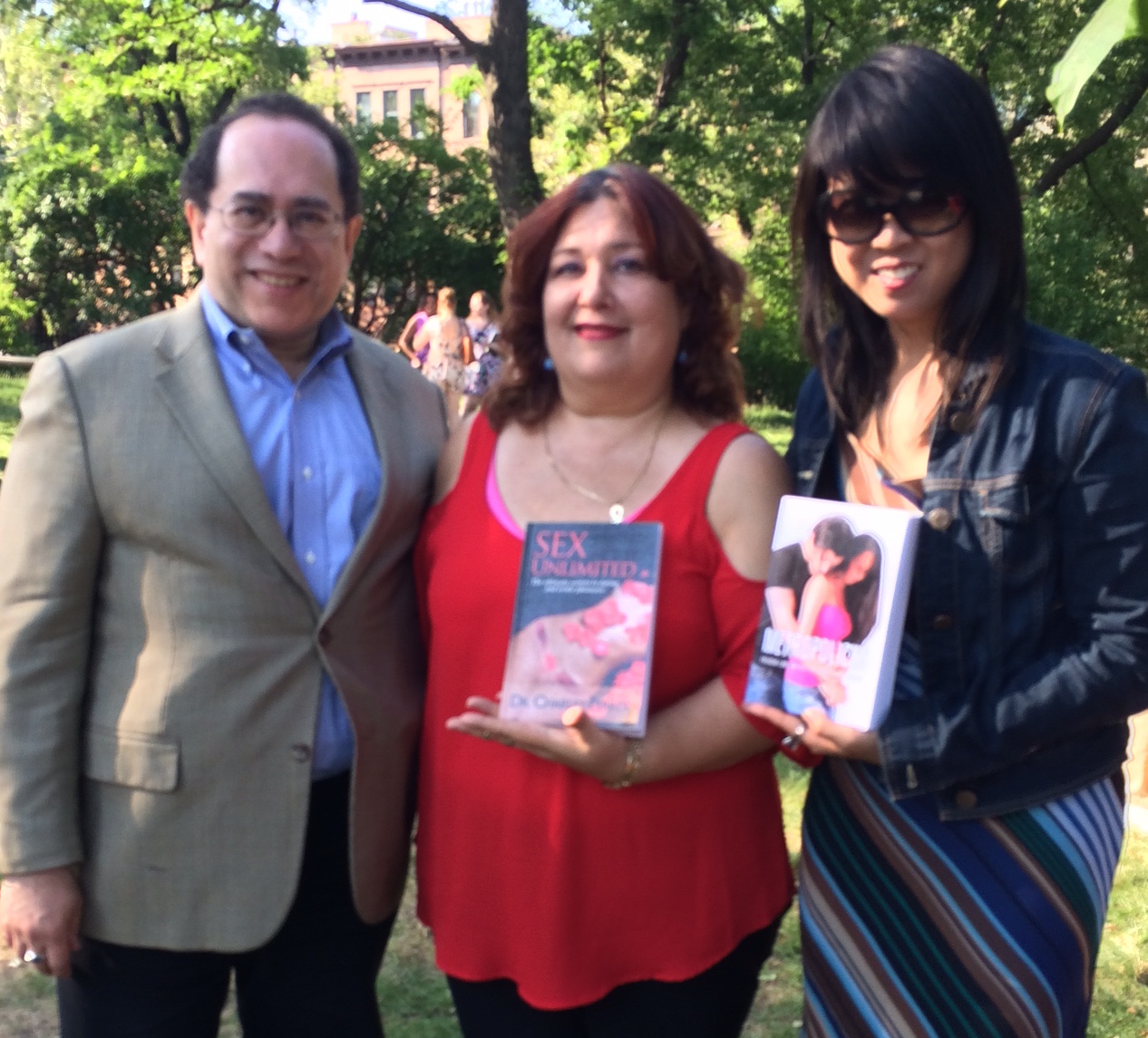 Victor Scott Rodriguez, Dr. Charley Ferrer and Felicia Lin