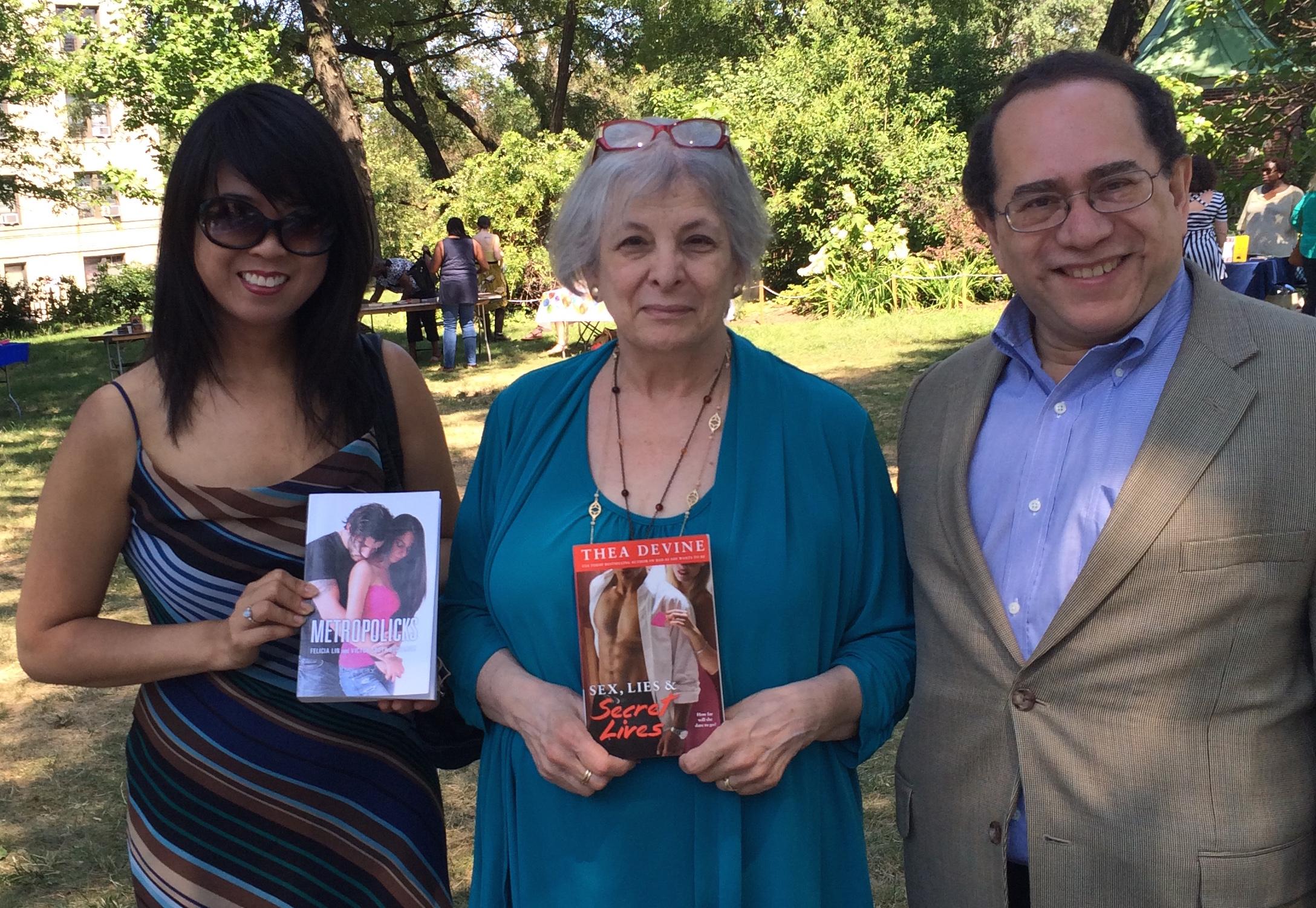Felicia Lin, Thea Devine and Victor Scott Rodriguez