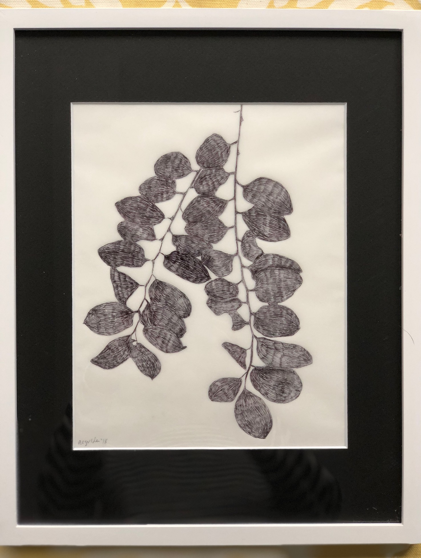 """Shadow Tracings A 11"""" x 14"""" by Amy Chase Gulden"""