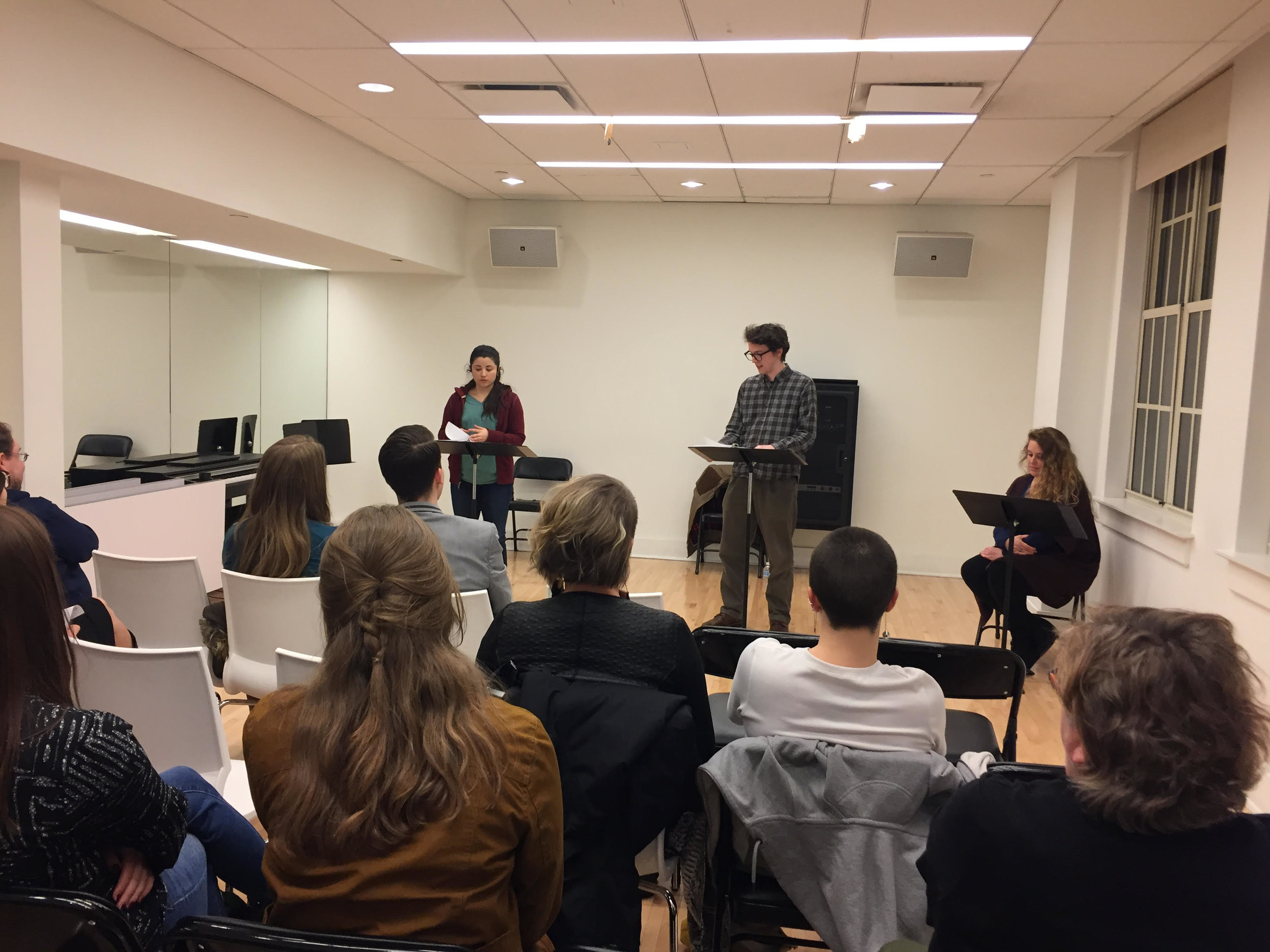 Photo from our first informal reading in March 2018
