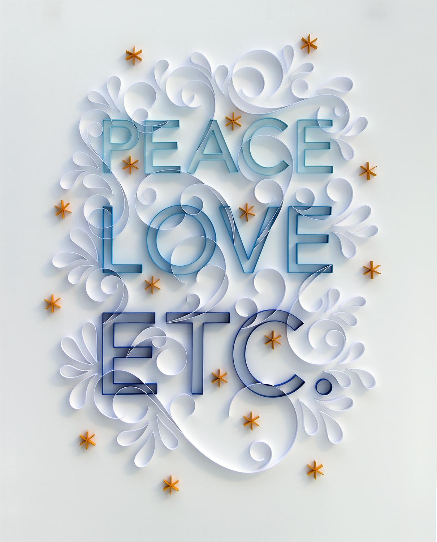 """Peace Love Etc  24"""" x 30"""" Framed $5,000"""