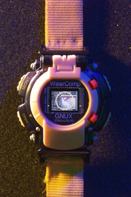 """The first Linux Smartwatch: presented on 7 February 2000, where presenter Steve Mann was named """"the father of wearable computing""""."""