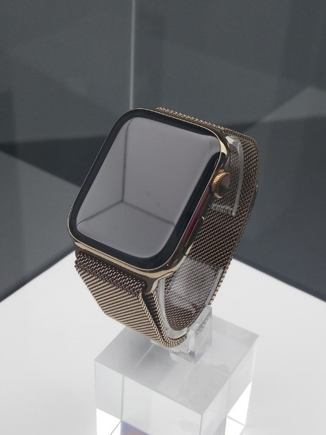 Modern smart watches on display at the Red Dot Museum in Singapore, far more advanced in its technology and design