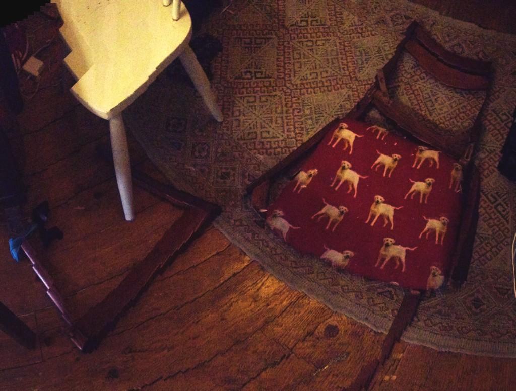 I broke a chair