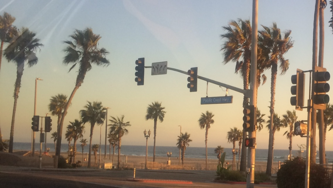 The Pacific Cost Highway near Huntington Beach