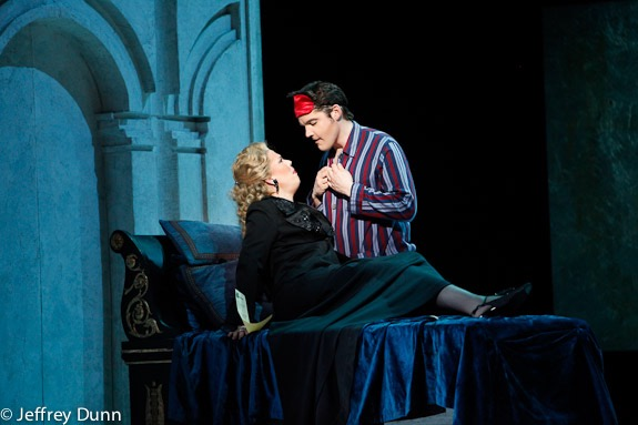 With Caroline Worra in Boston Lyric Opera production of <i>Agrippina</i>; photo by Jeffrey Dunn