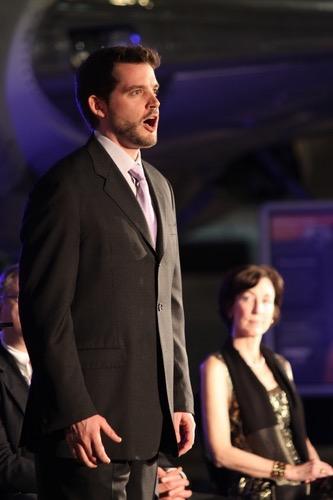 Excerpts from <i>Amelia</i> with Seattle Opera at the Museum of Flight; photo by Alan Alabastro