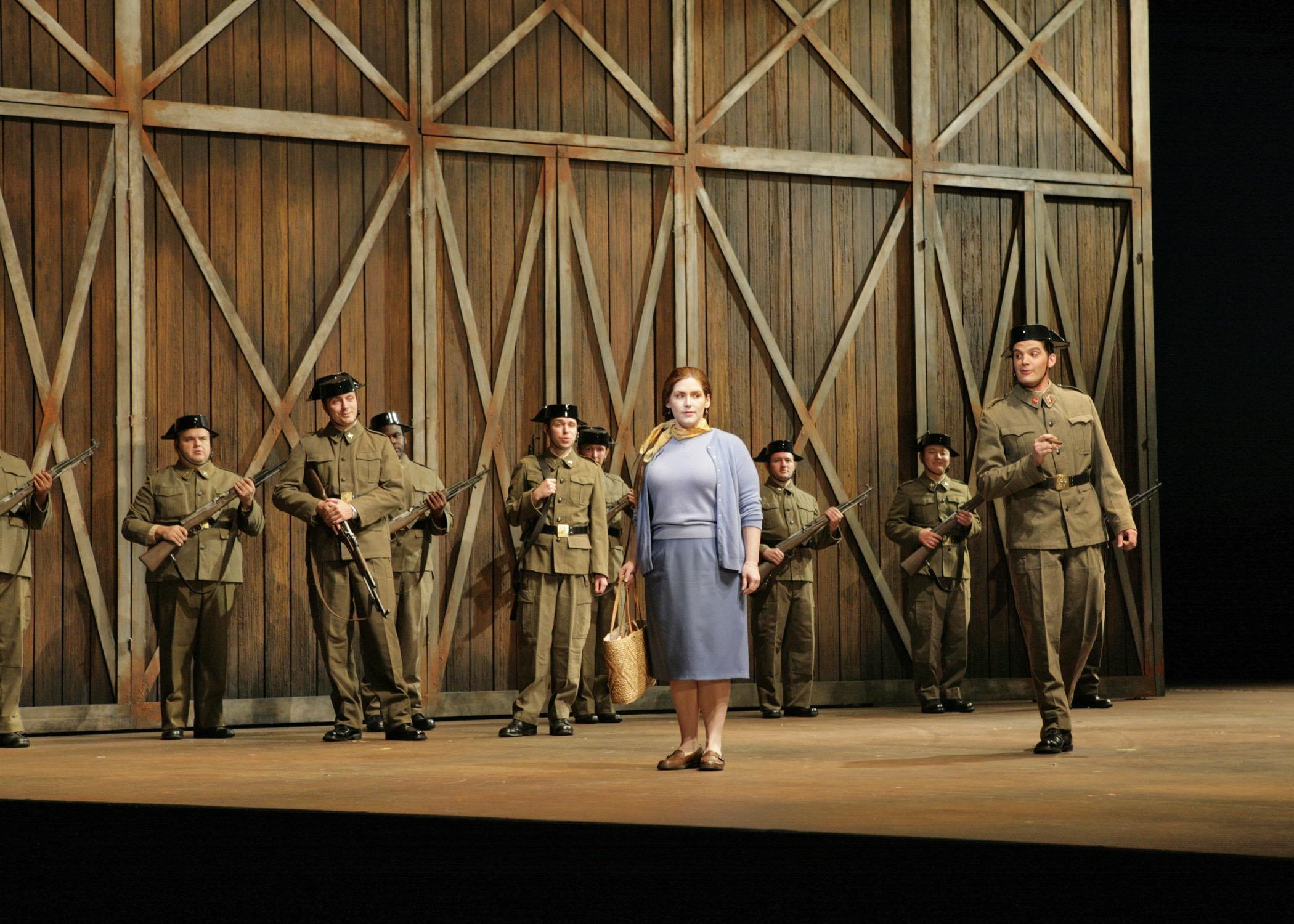 With Jennifer Black in Santa Fe Opera production of <i>Carmen</i>; photo by Ken Howard