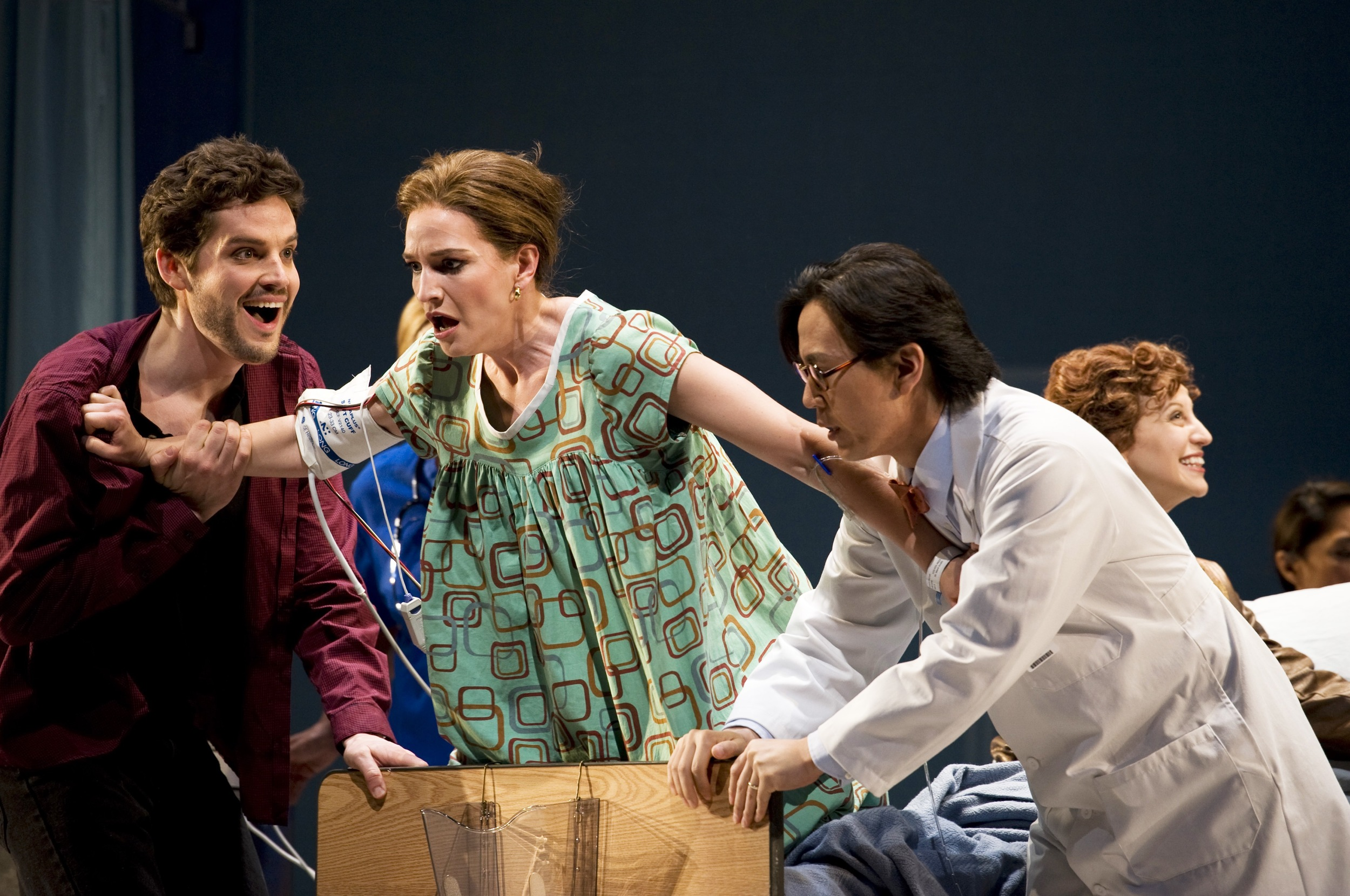 With Kate Lindsey and David Won in Seattle Opera production of <i>Amelia</i>; photo by Rozarii Lynch