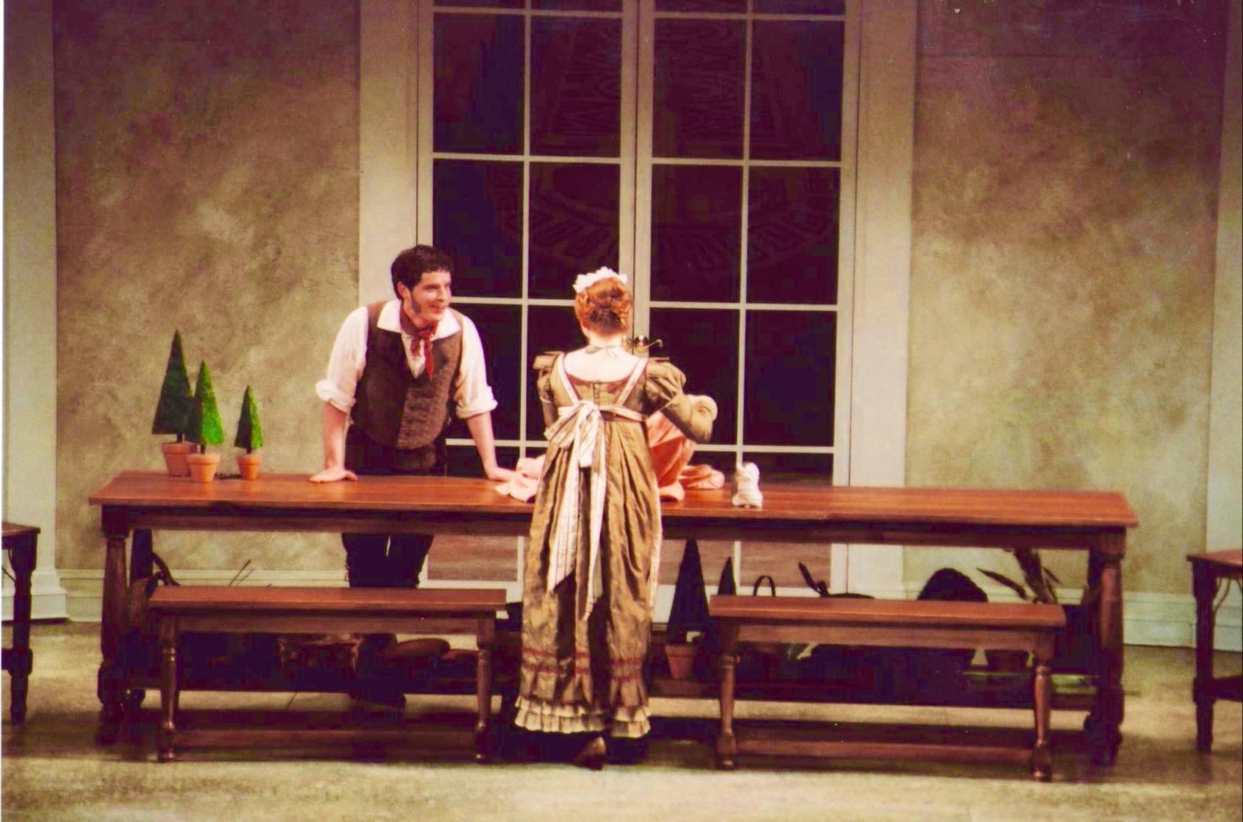 With Ariana Wyatt in Juilliard Opera Center production of <i>La Finta Giardiniera</i>; photo by Jay Lesenger