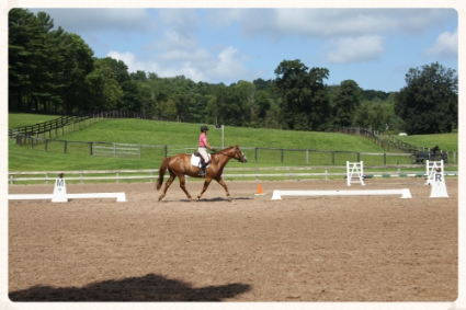Fay & Joey dressage part of clinic